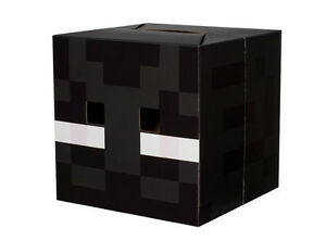 Minecraft ENDERMAN Cardboard Head Mask Costume Officially Licensed NEW