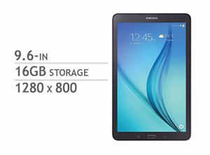 Samsung Galaxy Tab E - 9.6 inch 16GB Android Tablet