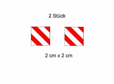 2x Warntafel Modellbau Aufkleber Decal im Wedico-/ Tamiya - Maßst. 1:14,5 - 1:16