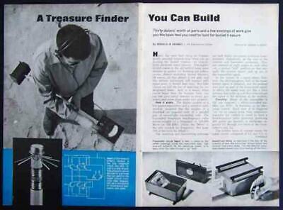 Metal Detector Treasure Finder 1966 How-to Build Plans