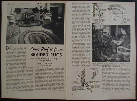 Braided Rug How-To Make 1949 PLANS Wool Rag