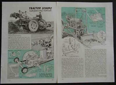 Tractor Scoop-bucket Lift-front End Loader How-to Build Plans
