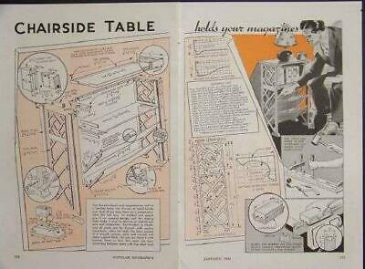 Side Table Scroll Saw 1942 How-To build PLANS Books+Magazines for sale  Shipping to India