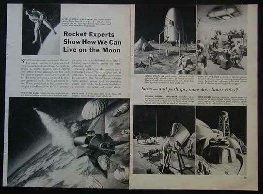 Arthur C Clarke Exploration of the Moon 1955 vintage pictorial