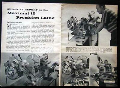 Edelstaal Maximat 10 Metal Lathe Shop Use Report 1961