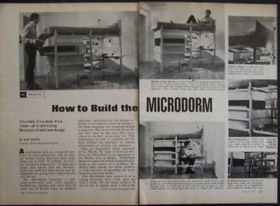 MICRODORM Bed/Desk/Chest HowTo build PLANS Matrix (Matrix Bedroom Set)