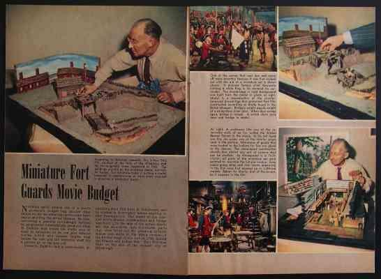 Fort Pitt Unconquered Demille Movie Model 1947 article
