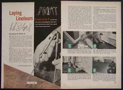 "How-To Lay LINOLEUM ""Green"" Flooring Installation"