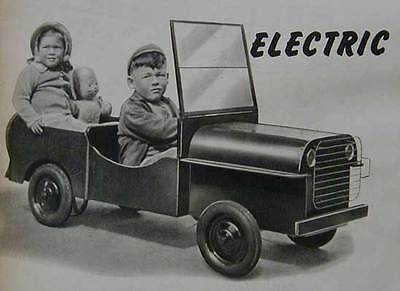 WWII Army Jeep Sidewalk Car Go Cart 1946 How-To build PLANS