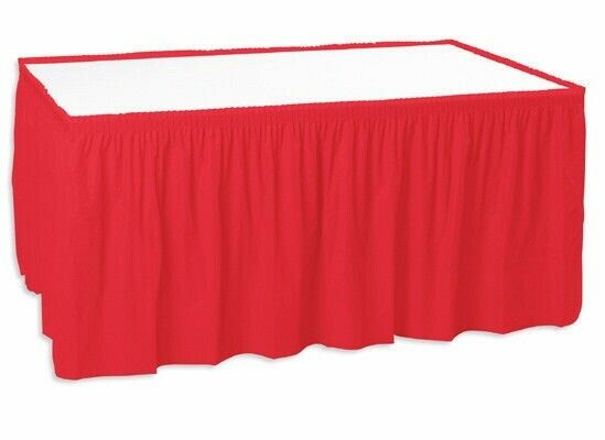 Shirred Pleated Trade Show Table Skirt for 6