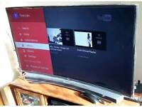 SAMSUNG TV 55 INCH curved+Sound-bar curved together 850£