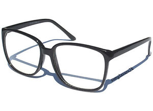 Oversize-CLEAR-LENS-SMART-HIPSTER-GLASSES-RETRO-FASHION-Thin-Sexy-Black-Frame