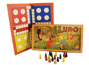 VINTAGE 1920S STYLE PIXIE LUDO GAME FAMILY FUN GREAT GIFT
