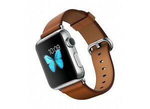 Apple Watch series 2 stainless and leather band