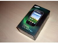 SAMSUNG GALAXY ACE UNLOCKED BRAND NEW BOXED BLACK & WHITE COLOUR AVAILABLE