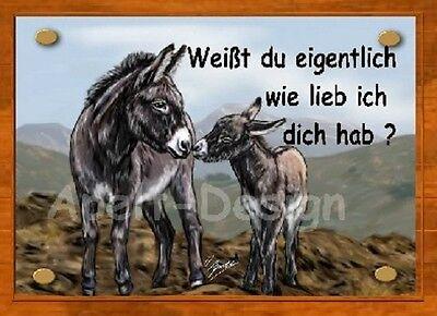 Esel   /   Schild  / Bild  / B43