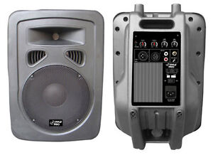 NEW PYLE PRO PPHP1098A 600 Watt 10'' 2-Way Powered PA Speaker System Audio DJ