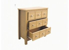 **FREE & FAST UK DELIVERY** BRAND NEW REAL ASH VENEER MULTI DRAWERS CHEST IN OAK COLOUR