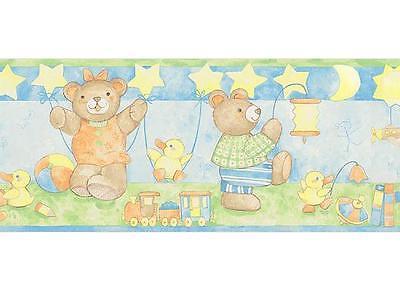 Bordüre Teddy Bärenfamilie selbstklebend Tapete Borte ablösbar Babyzimmer Deko