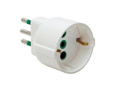 Adattatore elettrico spina semplice tedesca presa civile FANTON art.82120 bianca