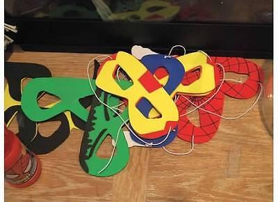 Superhero Masks - variety of flexible foam - Foam Superhero Mask