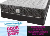BLACK FRIDAY! ESCAPE FIRM 2 SIDED QUEEN MATTRESS - ONLY $459!
