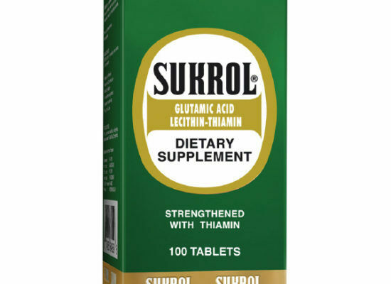 .SUKROL DIETARY SUPPLEMENT 100 TABS SUKROL IDEAL PARA CEREBRO Y NERVIOS
