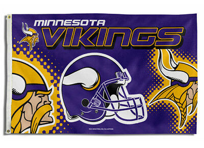 Minnesota Vikings Flag 3X5 Nfl Team Helmet Banner  Free Shipping