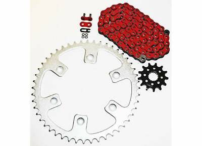 1992-1993, 1996-2001 Honda CR250R 250 R Red O Ring Chain And Sprocket 13/50 114L O-ring Chain Sprocket