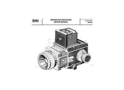 ROLLEI Repair Manual Rolleiflex SL66 film camera SERVICE MANUAL PLUS MORE on CD