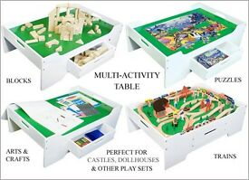 Children's Activity Lego train puzzle crafts table