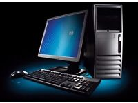 COMPUTER FOR SALE INTEL CORE 2, 2GHZ 2GB RAM 160GB HDD WINDOWS 7 COMPLETE 17INCH MONITOR ALL LEADS