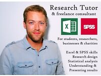 Research Tutor - Excel, SPSS, design & statistical analysis - For students, PhD research, businesses