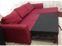 2 x Red sofa and corner sofa bed for sale