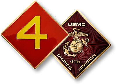 U.S. Marine Corps / 4th Marine Division - USMC Challenge Coin - Marine Division Challenge Coin