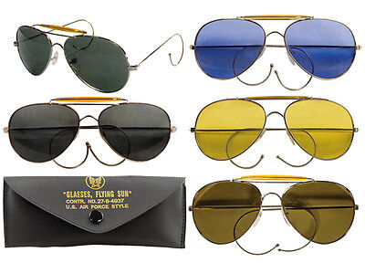 Rothco US Air Force Style Aviator Sunglasses With Case  10200 (Air Sunglasses)