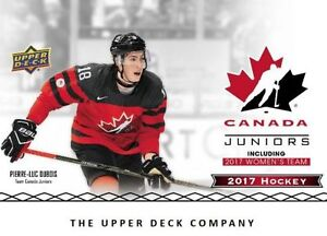 2017 Upper Deck Team Canada Juniors Hockey Available Wednesday