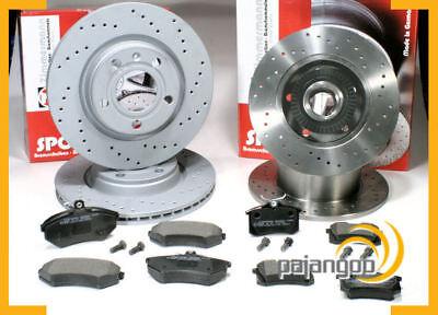 Audi A4 B5 - Zimmermann gelochte Sport Bremsscheiben Bremsbeläge vorne hinten* online kaufen