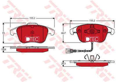 TRW Front Brake Pads Set GDB1762DTE - BRAND NEW - GENUINE - 5 YEAR WARRANTY