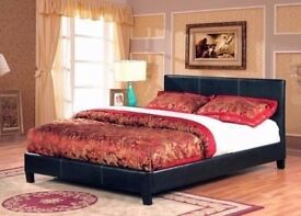❋❋【BRAND NEW IN BOX 】❋❋FAUX LEATHER UPHOLSTERED BED FRAME IN SINGLE,SMALL DOUBLE,DOUBLE & KING SIZE