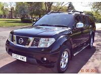 2007 NISSAN NAVARA DC AVENTURA 2.5 DCI AUTO BLACK DOUBLE CAB SAT NAV TOP BOX