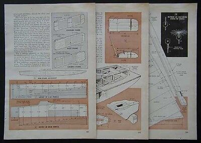 "16' Scow Sailboat ""Solution"" Easy How-To build PLANS Plywood"