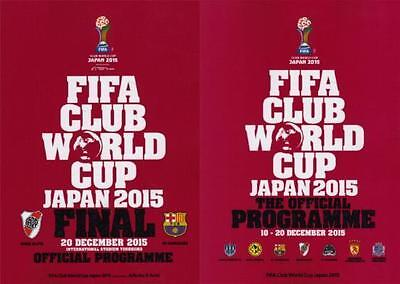* 2015 FIFA CLUB WORLD CUP TOURNAMENT & FINAL - SET OF OFFICIAL PROGRAMMES *