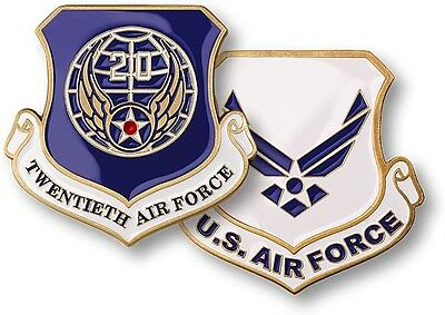 Twentieth Air Force Challenge Coin USAF US Warren Base Wyoming WY 20th 20 ICBM, used for sale  Avondale