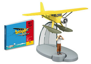 en avion tintin hachette collection