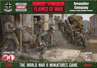 Flames of War: Grenadier Company (Plastic) GBX81 FREE SHIPPING