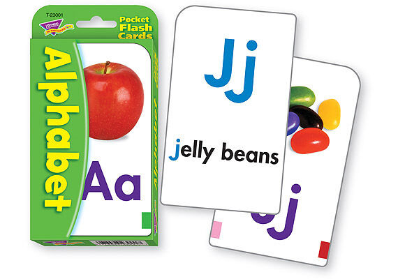 Kids Alphabet ABC Pocket Flash Cards By Trend - 52 Cards + 4 Activity Cards