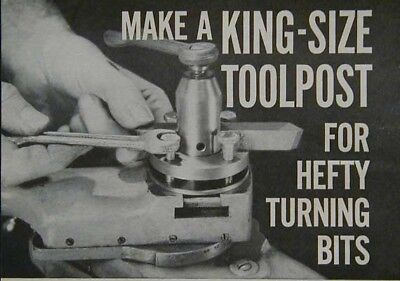 King-Size Toolpost - Metal Lathe HowTo build PLANS use large bits