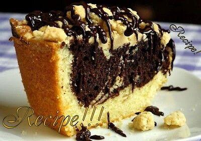 ☆Chocolate Swirl Vanilla Crumble Coffee Cake
