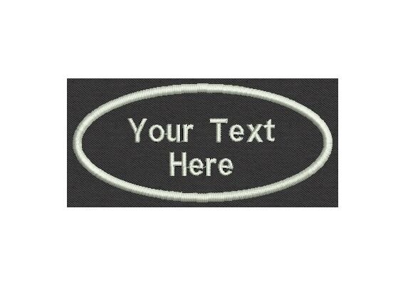 """6 Custom Embroidered Name Patches Biker, Tag, Badge, Iron On or Sew On 4""""x2"""""""